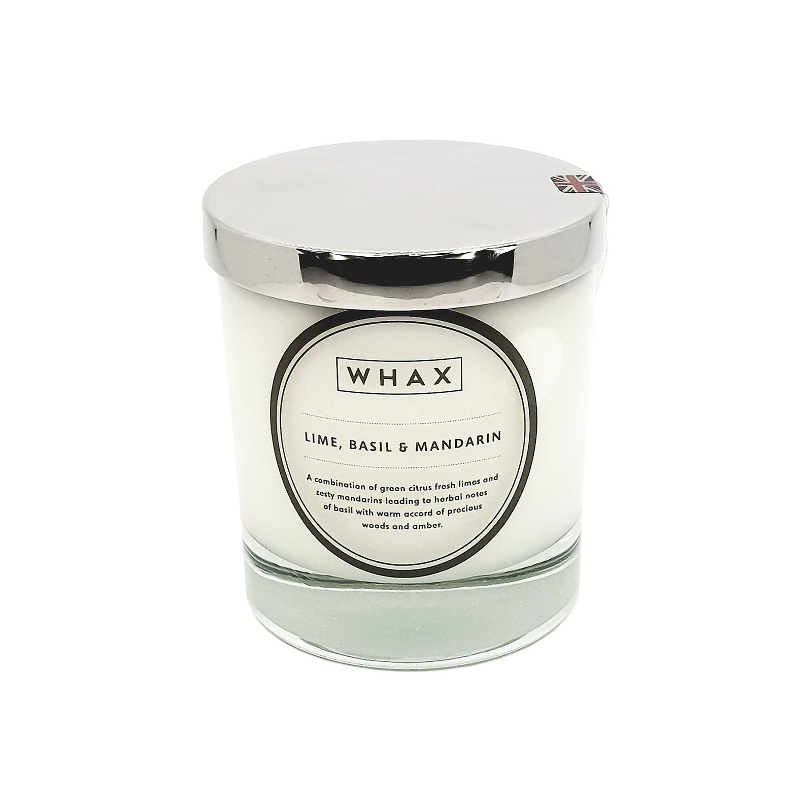 Lime, basil & mandarin luxury scented candle