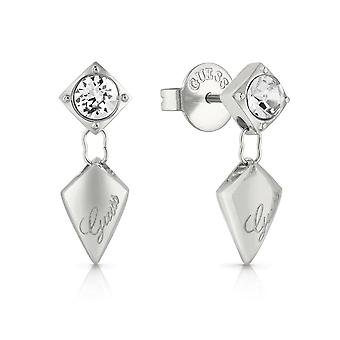 Guess Jewellery Quilted Stud Silver Earrings UBE29097