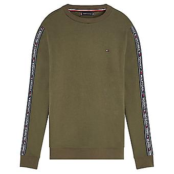 Tommy Hilfiger Long Sleeve HWK Sweatshirt, Olive Night Green, X-Large