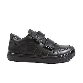Ricosta Ethan 5621400-090 Black Leather Boys Rip Tape School Shoes