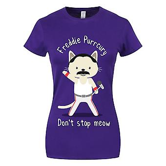 Grindstore naisten/naisten Freddie Purrcury T-paita