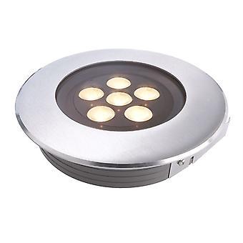 Lampa podłogowa LED wpuszczona Płaska I 3000K x 173mm srebrny IP67
