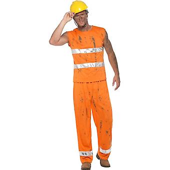 Coal Miner/Workman Costume, Fancy Dress, XL