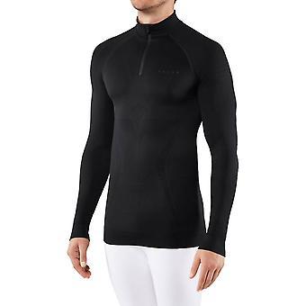 Falke Figure Hugging Zipped Shirt - Noir
