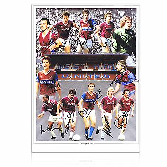West Ham Boys Of 86 Signed By 12 Photo