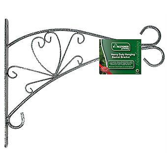 "Kingfisher HBB12DB 12"" Inch (30cm) Decorative Hammertone Metal Hanging Planter Basket Wall Bracket"