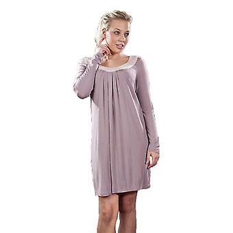 Ladies La Marquise Satin Trimmed Jersey Knit Nightdress Sleepwear
