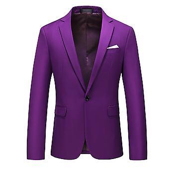 Allthemen miesten bleiseri Business Casual Slim Fit Suit takki