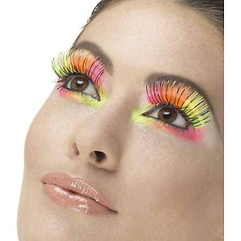 80s Party Eyelashes Adult Neon