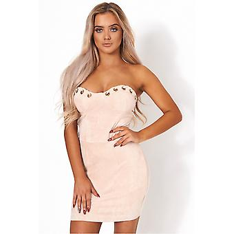 Dolce Suede Bodycon Dress