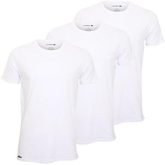 Lacoste 3-Pack Essentials Pure Cotton Crew-Neck T-Shirts, White