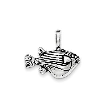 925 Sterling Silver Big Belly Animal Sealife Fish Chain Slide Pendant Necklace Jewelry Gifts for Women