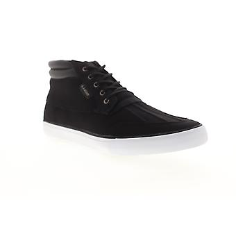 Lugz Boomer  Mens Black Canvas Lace Up High Top Sneakers Shoes
