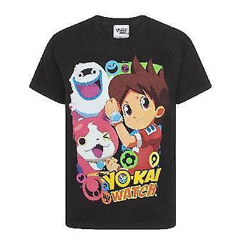 Yo-Kai Watch Characters Boy's T-Shirt