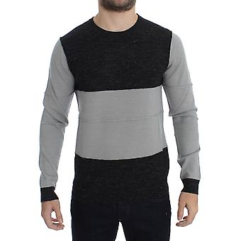 Costume National Gray Crewneck Wool Sweater