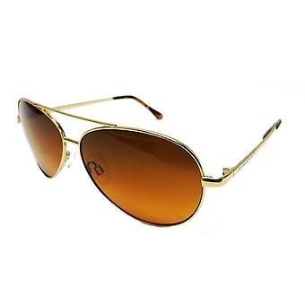 Lunettes de soleil BluBlocker™ Polarized Wire Aviator (Or)