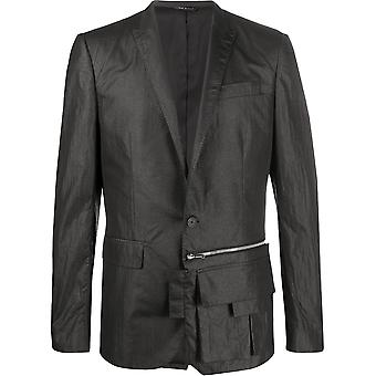 Les Hommes Liw202265u9000 Men's Black Nylon Blazer