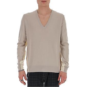 Maison Margiela S50ha0936s17228001f Men's Bege Cotton Sweater