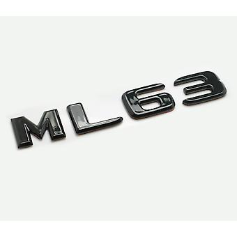 Gloss Black ML63 Flat Mercedes Benz Car Model Rear Boot Number Letter Sticker Decal Badge Emblem For M Class W163 W164 W166 AMG