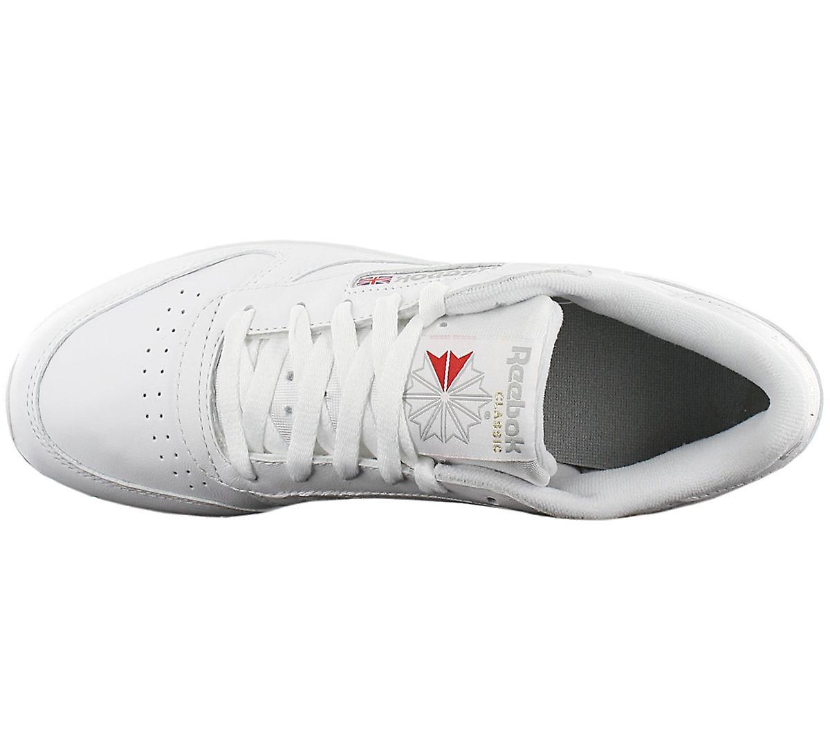 Reebok Classic Leather CL LTHR - Damen Schuhe Weiß 2232 Sneakers Sportschuhe FEQrO
