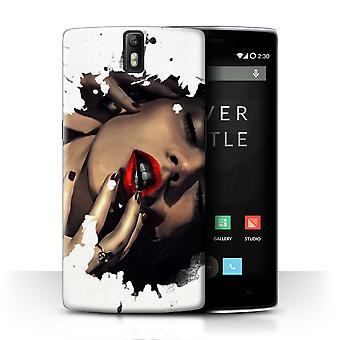 STUFF4 Case/Cover for OnePlus One/Glimpse/Red Lipstick/Fragments