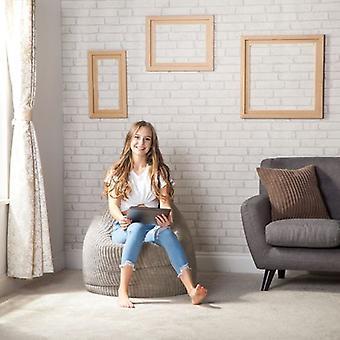 Hippo Bean Bag Chair | Jumbo Cord 'De Neushoorn;apos; | Gaming Lounger Indoor Living Room | Ergonomisch ontwerp voor uren van ontspanning (Mink, Bean Bag Chair)