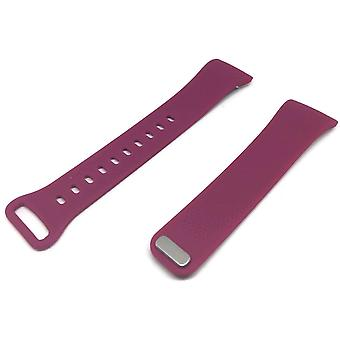 Silicone watch strap for samsung gear fit 2 sm-r360 colour purple