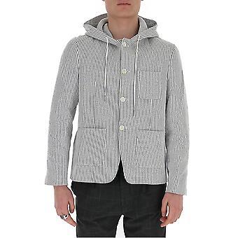 Thom Browne Mjt206a01732055 Men's Grey Cotton Outerwear Jacket