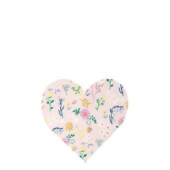 Meri Meri Wildflower Heart Small Paper Party Guardanapo x 20