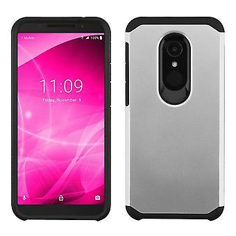 ASMYNA Astronoot Case for Alcatel T-Mobile Revvl 2/Revvl 2/3 - Silver/Black