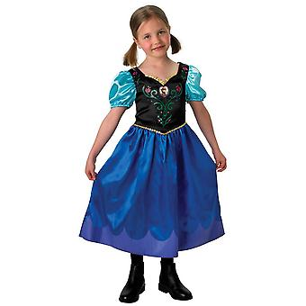 Frozen Childrens/Kids Anna Travelling Outfit Costume