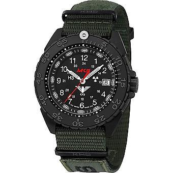שעון יד של האיש אוכף פלדה שחור CR. באמצעות המסך. NXTO1