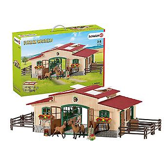 Schleich Farm World Stable with Horses & Accessories Playset