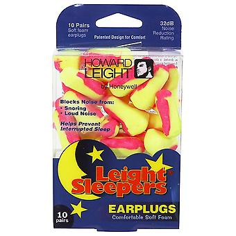 Howard Leight Single-Use Foam Earplugs for Sleeping, NRR 32, 10-Pairs #R-01680