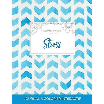 Journal de coloration adulte Stress Illustrations de vie marine Chevron aquarelle by Wegner & Courtney