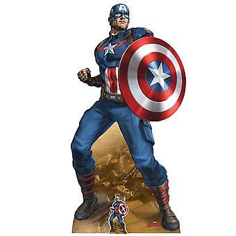 Captain America Mightiest Hero Marvel Legends Official Cardboard Cutout