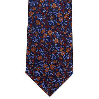 Michelsons Lontoo Mini kukka Polyesteri Tie - oranssi