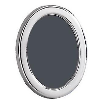 Orton West Polished Oval Photo Frame 5x7 - Silver