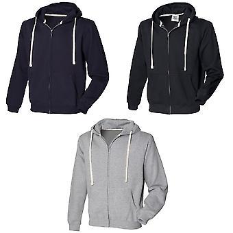 Front Row Mens Zip Through Hooded Sweatshirt / Hoodie