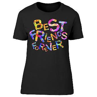 Best Friends Forever, Rainbow Tee Women's -Bild av Shutterstock