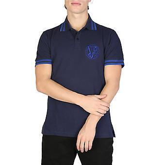 Versace jeans men's blue polo shirt.