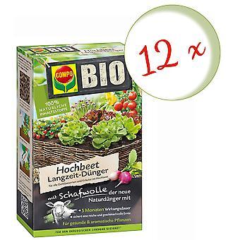 Disperso: 12 x COMPO BIO alto fertilizante a largo plazo con lana de oveja, 750 g