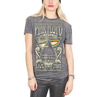 Pink Floyd T Shirt Carnegie Hall Official Womens New Grey Skinny Fit Burnout