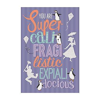 Hallmark Disney Mary Poppins You Are Super Cali Fragi Listic Card 25520163