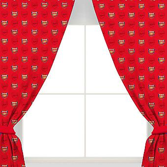 Arsenal FC Repeat Crest Curtains