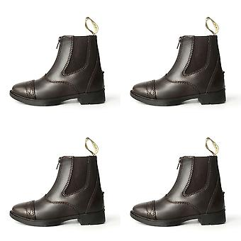 Brogini Unisex Childrens Leather Tivoli Piccino Zipped Boots