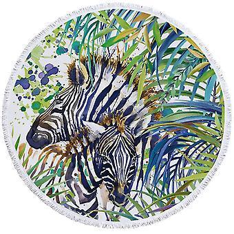 Tropische Zebra strandlaken