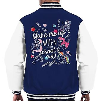 My Little Pony Wake Me Up When Schools Out Men's Varsity Jacket