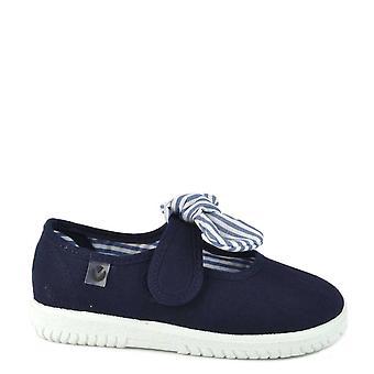 Victoria Shoes Ojala Hankie Marino Stripe Bow Pumps