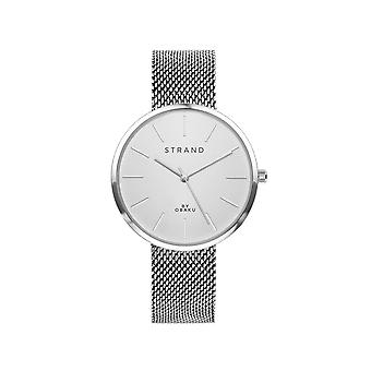 Strand By Obaku S700LXCIMC Sunset-Steel Silver Tone Mesh Wristwatch